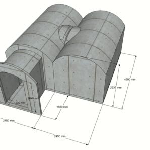 Sauna 14,2 m2 STANDARD-LIEFERPAKET