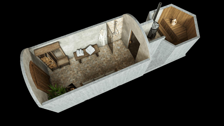 Sauna 14,2 m² STANDARD-LIEFERPAKET