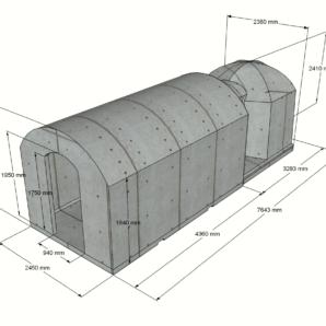 Keller 16,2 m2 STANDARD-LIEFERPAKET