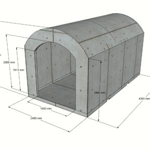 Sauna 9,7 m2 STANDARD (Ausführung mit Glas)