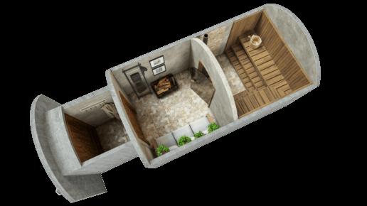 Sauna 11,7 m² STANDARD-LIEFERPAKET